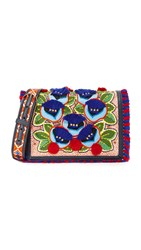 Tory Burch Embroidered Floral Combo Cross Body Bag Marion Multi