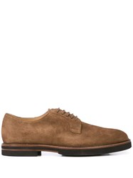 Tod's Suede Derby Shoes Brown