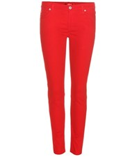 7 For All Mankind The Skinny Crop Jeans Red