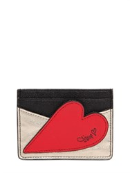Diane Von Furstenberg Heart Leather Card Holder
