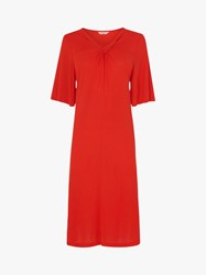 Lk Bennett L.K.Bennett Twist Neck Dress Red