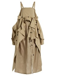 Maison Martin Margiela Cotton Deconstructed Trench Dress Beige