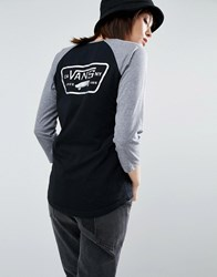 Vans Authentic Raglan Top With Holographic Logo Black