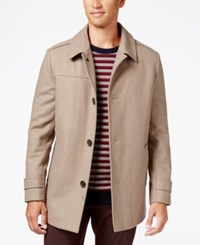 Kenneth Cole New York Wool Blend Car Coat Almond