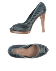 Eva Turner Pumps With Open Toe Dark Green