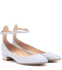 Valentino Garavani Tan Go Patent Leather Pumps Grey