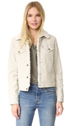 Levi's Authentic Sherpa Trucker Jacket Silver Lining Cord