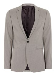 Topman Light Brown Check Ultra Skinny Fit Suit Jacket