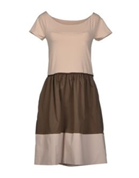 Alpha Studio Short Dresses Beige