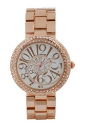 Betsey Johnson Women's Oversized Swirl Dial Watch No Color