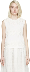 Giambattista Valli White Floral Embroidered Tank Top