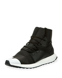 Y 3 Men's Kozoko High Top Sneaker Black Silver Black Silver