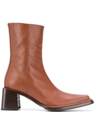 Acne Studios Square Toe Ankle Boots 60