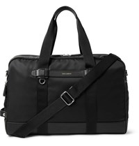 Dolce And Gabbana Leather Trimmed Nylon Holdall Black