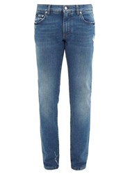 Dolce And Gabbana Washed Skinny Leg Jeans Blue