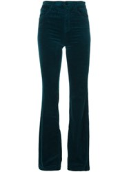 J Brand Flared Trousers Green