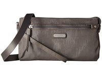Baggallini New Classic Rfid Transit Bagg Sterling Shimmer Bags Gray