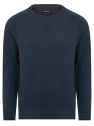 Wolsey Brushed Plain Crew Neck Pull Over Jumpers Total Eclipse