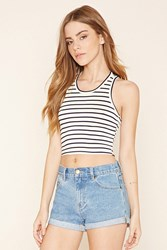 Forever 21 Striped Cropped Tank