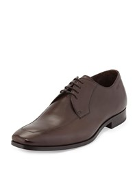 Hugo Boss Maxero Leather Lace Up Oxford Dark Brown