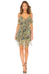 Kendall Kylie Floral Ruffle Wrap Dress Yellow