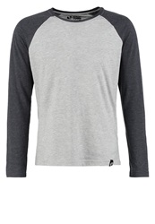 Your Turn Long Sleeved Top Lt Grey Dk Grey Mottled Light Grey