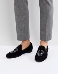 Kg By Kurt Geiger Embroided Slipper Loafers Black