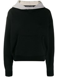 Alexander Wang T By Layered Cropped Hoodie Black
