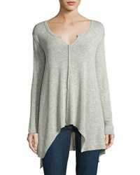 Young Fabulous And Broke Ashlyn Knit Asymmetric Top Stone