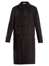Raey Double Breasted Wool Duffle Coat Navy