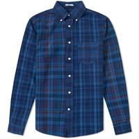 Gant Rugger Upcycled Patchwork Shirt Blue