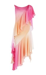 Temperley London Miracle Ruffled Asymmetrical Dress Pink