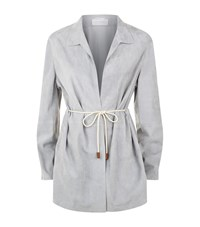 Fabiana Filippi Suede Drawstring Jacket Female Grey