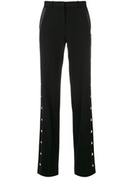 Givenchy Tailored Trousers Women Silk Acetate Wool 36 Black