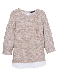 Violeta By Mango Cotton Blend Sweatshirt Light Beige