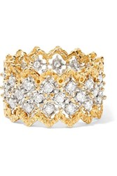 Buccellati Rombi 18 Karat Yellow And White Gold Diamond Ring 52