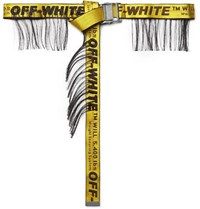 Off White 3.5Cm Yellow Industrial Fringed Logo Jacquard Webbing Belt Yellow