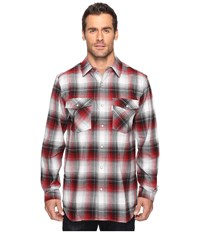 Carhartt Trumball Snap Front Plaid Shirt Dark Crimson Men's Long Sleeve Button Up Burgundy