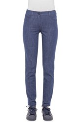 Akris 'Magda' Stretch Cotton Denim Pants Blue