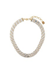 Ca And Lou Starlite Crystal Choker Gold