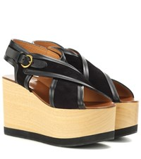 64c6d1319f Isabel Marant Zlova Suede And Wood Wedge Sandals Black