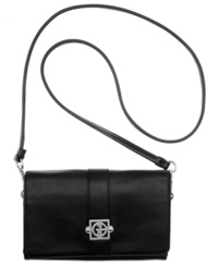 Giani Bernini Handbag Nappa Leather Flap Crossbody Black