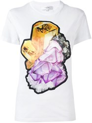 Carven Crystal Print T Shirt White