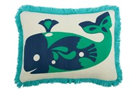 Thomas Paul Amalfi Whale Cotton Pillow Multicolor