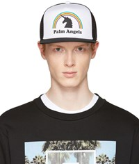 Palm Angels Black And White Unicorn Cap