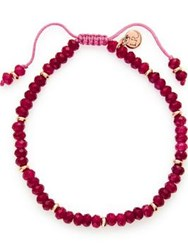 Lola Rose Cherry Red Quartzite Bracelet Gold Rose Gold