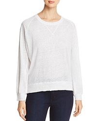Kenneth Cole Mixed Media Sweatshirt Top White