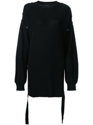 G.V.G.V. Button Detail Midi Jumper Black