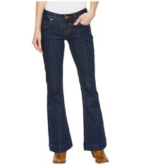 Rock And Roll Cowgirl Trousers Bootcut In Dark Wash W8 5098 Dark Wash Jeans Navy