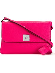 Marc Jacobs 'Lock And Key' Flap Shoulder Bag Pink And Purple